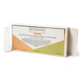 Антибактериальные ампулы Стоп Акне с витамином В3 и наносеребром pHarmika Stop Acne fluid