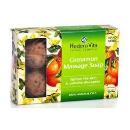 Антицеллюлитное массажное мыло с корицей Hedera Vita Cinnamon Massage Soap, 120 гр