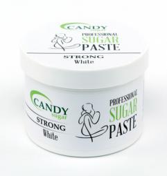 """Белая сахарная паста для шугаринга """"Твердая"""" CANDY Sugar «White» Strong, 600 гр"""