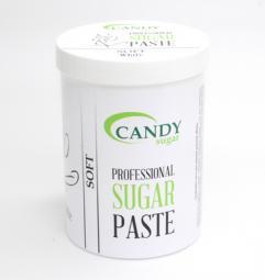 """Белая сахарная паста для шугаринга """"Мягкая"""" CANDY Sugar «White» Soft, 1300 гр"""
