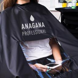 Пеньюар парикмахерский с логотипом и окошком Anagana Cape For Hair Salon With Logo With Window