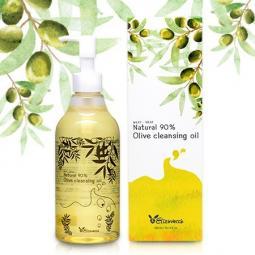 Гидрофильное масло для лица с маслом оливы Elizavecca NATURAL 90% OLIVE CLEANSING OIL