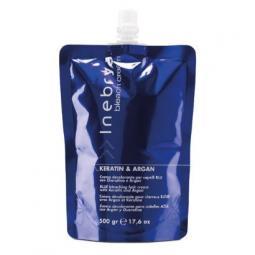 Осветляющий крем для волос с кератином и арганой Inebrya Bleach Cream Keratin & Argan