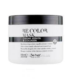 Маска для волос после окрашивания с кератином и коллагеном Be Hair Be Color After Colour Mask Caviar Keratin Collagen