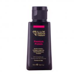 Кератин для выпрямления толстых и очень кучерявых волос Lux Keratin Therapy Premium Protein, 55 мл