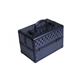 Алюминиевый кейс для косметики (черный) Eurostil