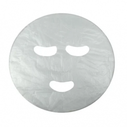 Косметическая маска - салфетка с отверстиями для глаз и рта из полиэтилена Doily