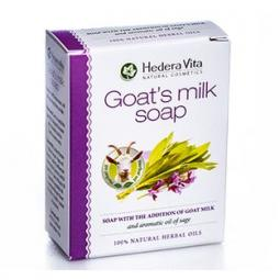 Мыло с козьим молоком и маслом шалфея Hedera Vita Soap with the Addition of Goat Milk Oil of Sage, 65 гр