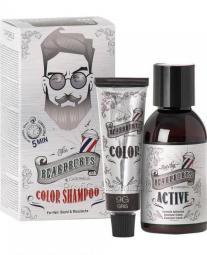 """Тонирующий мужской шампунь для головы, бороды и усов """"9G серый"""" Beardburys Color Shampoo 9G"""