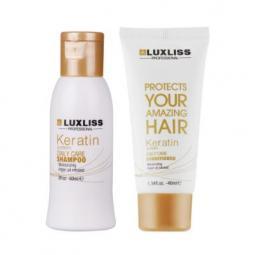 Кератиновый дорожный набор для волос Luxliss Keratin Travel Kit