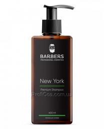 Тонизирующий и энергетический мужской шампунь для волос Barbers New York
