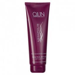 Безсульфатная маска-вуаль для волос с черным рисом Ollin Professional Megapolis