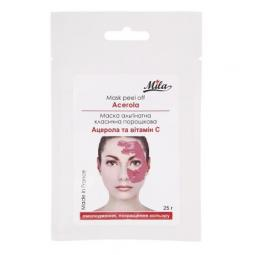 Альгинатная увлажняющая порошковая маска для лица с ацеролой и витамином С Mila Mask Peel Off Acerola