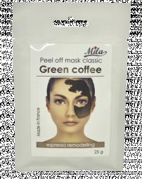 """Альгинатная тонизирующая маска для подтягивания лица """"Зеленый кофе"""" Mila Espresso Remodelling Peel Off Mask Green Coffee"""