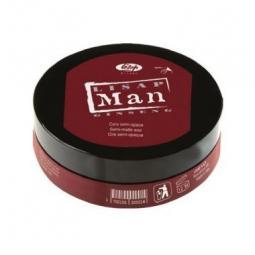 Моделирующий воск для волос для мужчин с женьшенем Lisap Man Semi-Matte Wax