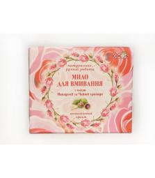 Натуральное мыло для умывания с маслом макадамии и чайной розой Cocos