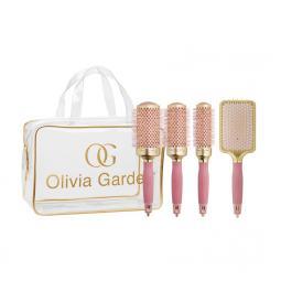 Набор брашингов для волос (4 шт.) Olivia Garden NANO THERMIC PINK EDITION