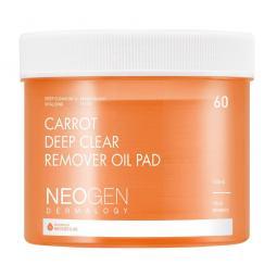Очищающие гидрофильные пэды для лица Neogon Carrot Deep Clear Remover Oil Pad