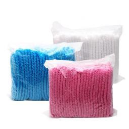 """Одноразовые шапочки для окраски волос """"Гармошка"""" розовые Polix PRO&MED"""