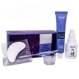 """Краска для бровей и ресниц """"Коричневая"""" в наборе Ollin Professional Vision Set Color Cream For Eyebrows And Eyelashes"""