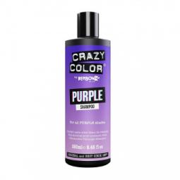 Оттеночный шампунь для волос всех фиолетовых оттенков Crazy Color Purple