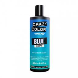 Оттеночный шампунь для волос всех синих оттенков Crazy Color Blue