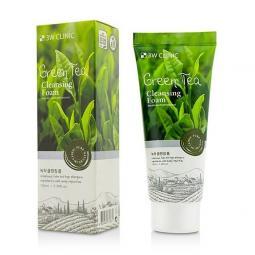 Пенка для умывания натуральная с зеленым чаем 3W Clinic Green Tea Foam Cleansing