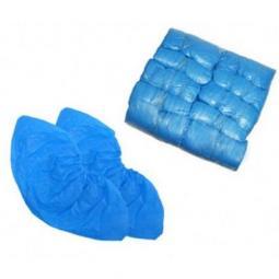 Полиэтиленовые текстурированные бахилы голубые (100шт. упаковка) Medicom