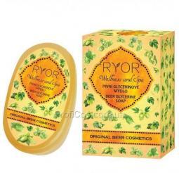 Глицериновое смягчающее мыло для тела с экстрактом хмеля Ryor