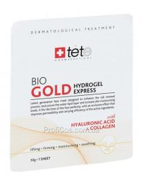 Восстанавливающая экспресс-маска для лица от морщин с коллоидным золотом и коллагеном TETe Cosmeceutical