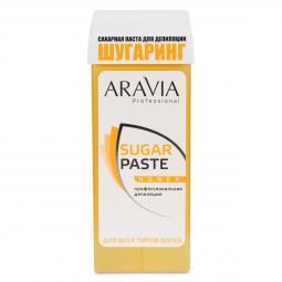 """Сахарная паста для шугаринга в кассете очень мягкая """"Медовая"""" Aravia"""