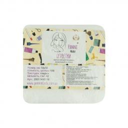 Салфетки в пачке 10 х 10 см из спанлейса 40 г/м² гладкие Panni Mlada
