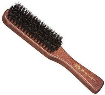 Фото Массажная деревянная щетка для бороды с натуральной щетиной Eurostil BARBER LINE 06075