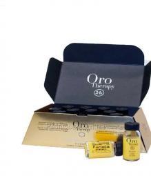 Восстанавливающий лосьон для волос с кератином и аргановым маслом Fanola Oro Therapy