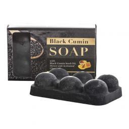 Мыло с маслом черного тмина, медом и активированным углем Hedera Vita Soap With Black Cumin Seed Oil, 120 гр