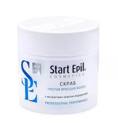 Скраб для тела от вросших волос с экстрактами морских водорослей Aravia Start Epil