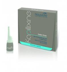 Средство для жирных волос с экстрактом крапивы в ампулах Nouvelle Kapillixine Golden Drops