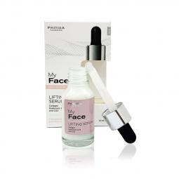 Сыворотка с коллагеном и гиалуроновой кислотой для лица Розовая с лифтинг эффектом Parisa Cosmetics My Face Lifting