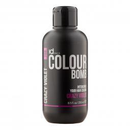 Тонирующий бальзам для волос с кератином Crazy Violet Id Hair Colour Bomb Crazy Violet