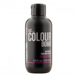 Тонирующий бальзам для волос с кератином Power Pink Id Hair Colour Bomb Power Pink