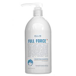 Тонизирующий шампунь для волос с экстрактом женьшеня и прокапилом Ollin Professional Full Force Tonifying Shampoo Purple Ginseng Extrac