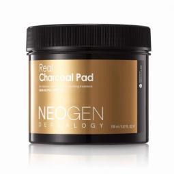 Увлажняющие пилинговые диски для лица с углем Neogen Dermalogy Real Charcoal Pad