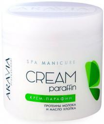 Увлажняющий смягчающий крем-парафин «Natural»для тела c молочными протеинами и маслом хлопка ARAVIA