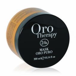 Восстанавливающая маска для волос с микрочастицами золота Fanola Oro Therapy Puro Mask