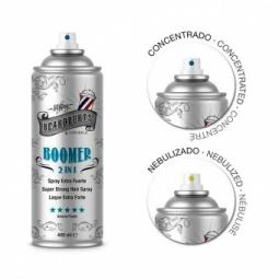 Быстросохнущий лак для волос с двумя распылителями BeardburysBoomer 2 in 1 Super Strong Hair Spray