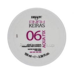 Фиксирующий воск на водной основе сильной фиксации Dikson Keiras Finish Aqua Fix Water Based 06
