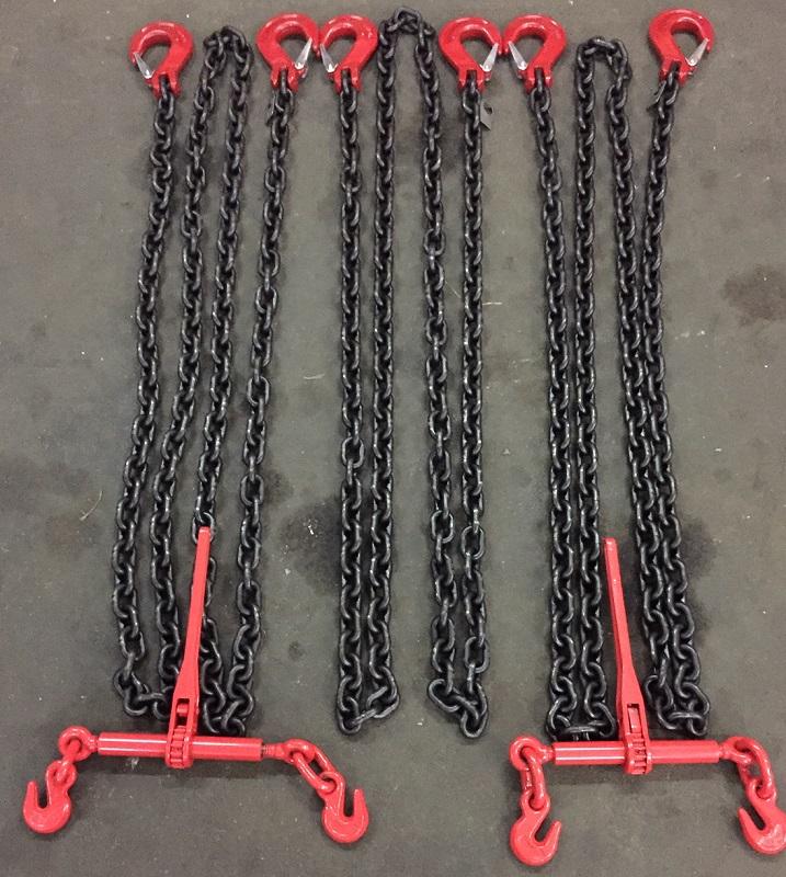 Стяжки цепные для крепления на трале