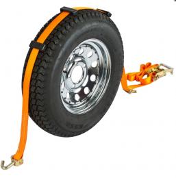 Автовозный ремень с поворотными крюками 5000 кг 2800 мм