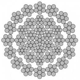 Канат стальной многопрядный (двойной свивки) 35Wх7+WSC