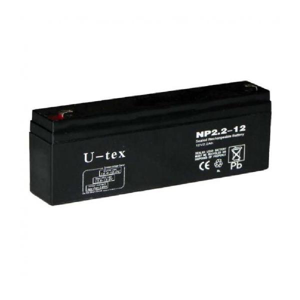 Аккумулятор U-tex 12В / 2,2 Ah плоский